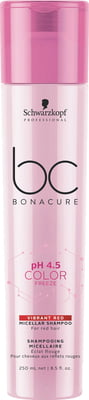 Schwarzkopf Professional Bonacure PH 4.5 Color Freeze Red Shampoo - 250 ml