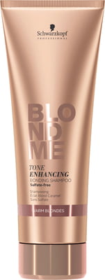BlondME Enhance Bond SHAMPOO Warm Blondes - 250 ml