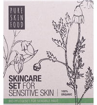PURE SKIN FOOD Organic Skincare Set for Sensitive Skin