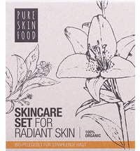 PURE SKIN FOOD Organic Skincare Set for Radiant Skin