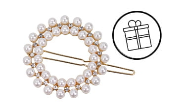 Your FREE Gift: Pearl-embellished hair clip